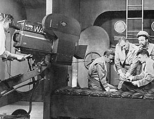 The electronicam shooting an episode of Captain Video
