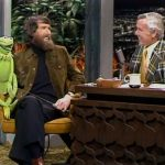 Jim and Kermit are interviewed by Johnny
