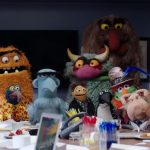 cast of The Muppets (2015-2016) in their writer's room