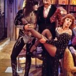 Paul Stanley with Billy Barty and Roz Kelly on set.