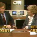 Lou Dobbs and Bella Abzug on early CNN election coverage.