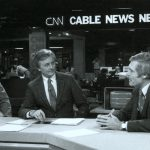 Ted Turner on CNN's set from early in its existence.