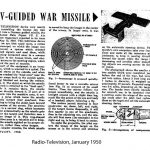 TV-guided war missle plans (attribution: Early Television Museum)