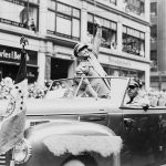 General Eisenhower receives a hero's welcome in NYC in 1945.